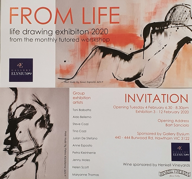 FROM LIFE: An exhibition of works on paper inspired by the nude.