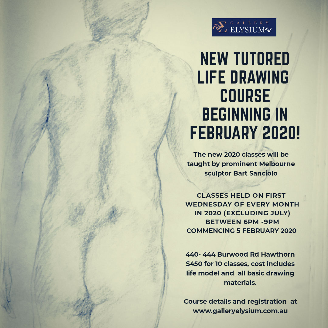 Tutored Life Drawing: (& Short Term Exhibition) COURSE CODE B003